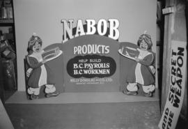 [Nabob products window display card for Kelly Douglas Ltd.]