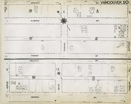 Plan of Vancouver, 1889 [fire map] : [Burrard Street to Georgia Street to Bute Street to Robson S...