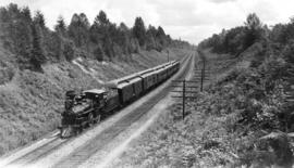 Replica of first C.P.R train to Port Moody, July 3, 1886 : Approaching Port Moody