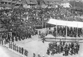 [Memorial service for King Edward VII at Recreation Park]