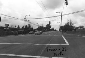 Fraser [Street] and 33rd [Avenue looking] south