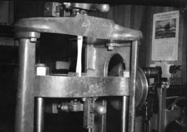 [Wood testing equipment in forestry testing lab at U.B.C.]
