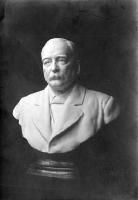Portrait bust in marble by Sydney March