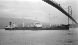 M.S. J.H. MacGaregill [passing under Lions Gate Bridge]