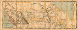Map of Manitoba, Kewaydin, British Columbia and North West Territory shewing the country traverse...