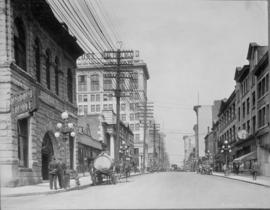 Pender Street [at Hamilton Street with Odd Fellows Hall on left]