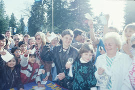Crowd at Vancouver's Centennial birthday celebration