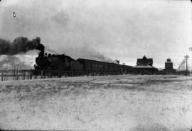 [Canadian Northern engine No. 2178 with train at station]