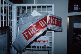 Fire blanket on display at Park Royal