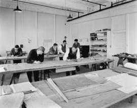 Boeing Aircraft Co. of Canada, flying boat construction, drawing boards