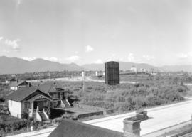 [View looking northwest from Granville Street showing the Burrard Bridge]