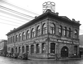 [Exterior of Wrigley Directories Limited on the corner of Pender Street and Hamilton Street]