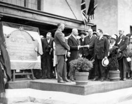 [Opening ceremony for C.P.R. Piers B and C]