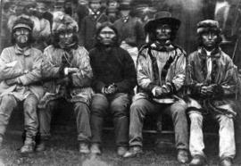 [Five unidentified First Nations men]