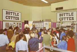 Crowd at Bottle Cutter product demonstration