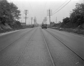 [View of Kingsway looking west from Slocan Street]