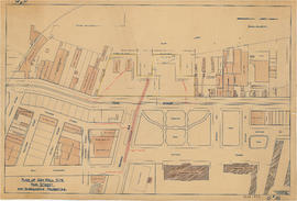 Plan of sea wall site, Main Street, and surrounding properties