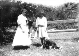 Lois [and girl with Colonel, the dog]