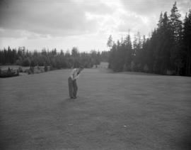 [Man on the fairway at Capilano Golf Course]