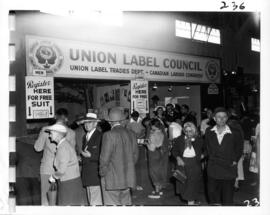 Union Label Council display in Commercial building