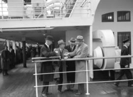 "American baseball stars visit October 19 - leaving on ""Empress of Japan"" 20 October 1934"