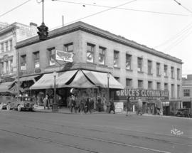 [View of northwest corner of Hastings and Homer Streets]