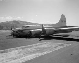 [Biegert Bros. water bomber on runway at Cranbrook Airport]