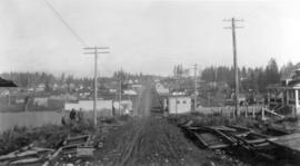 [Looking north from Kingsway at Joyce Road (Street)]