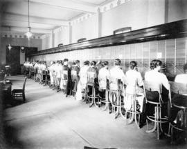 [The switchboards in the B.C. Telephone Company - 555 Seymour Street]