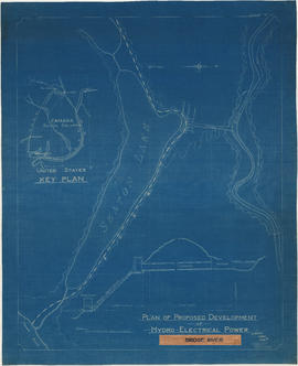 Plan of proposed development of hydro-electric power. Bridge River