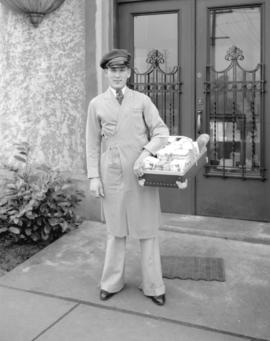 McGavin's Bakery driver in new [style] uniform