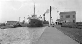 S.S. Swiftwater in lock, Welland Canal
