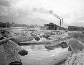 [View of Leamy and Kyle Sawmill on False Creek]