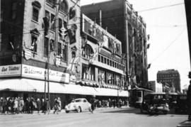 [View of David Spencer department store on Hastings Street]