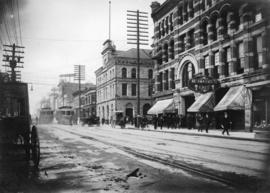 [Granville Street at Pender Street, looking south]