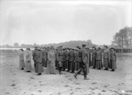 Duke [of Connaught] inspecting [women] at Hastings Park