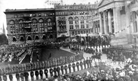 Arrival of Duke [of Connaught] at Court House