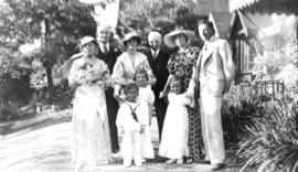 The wedding of Athea Banfield and Harold Fullerton, July 8, 1936 [at] 3:30 p.m. : Just the family