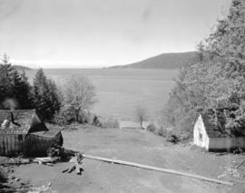 [Caretaker's cottage and stable at Larson's Ranch, Larson Bay]