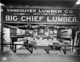 Vancouver Lumber Co. display of Big Chief lumber products