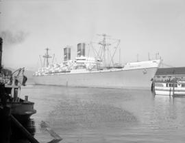 "[The freighter ""General M.C. Meigs"" at dock]"
