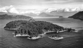 [View of Pasley Island in Howe Sound]