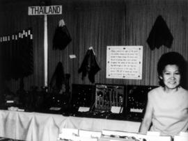 Display of products from Thailand at 1969 P.N.E. International Bazaar