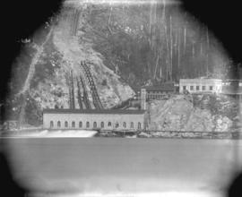 [View of Buntzen Lake Power Plant from Indian Arm]