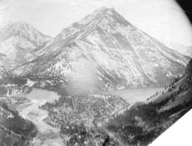 [View of Cayoosh and Seton Creeks and Ample Mountain near Lillooet]