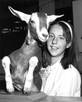 4-H club member with goat