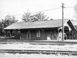 [First C.P.R. station moved to Heatley Avenue]