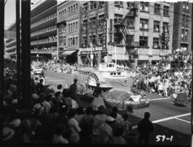 B.C. Electric float in 1957 P.N.E. Opening Day Parade