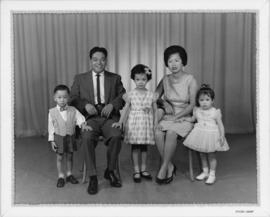 Danny and Karen Wong with their children Gail, Garrick and Michelle