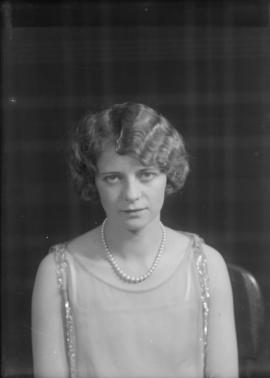 Portrait of Miss Evelyn Menchions